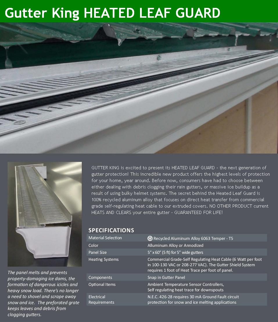Gutters Albany NY Heated Leaf Guard